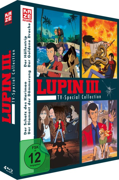 Lupin III - TV-Special Collection (4 TV-Specials) [4 Blu-rays]