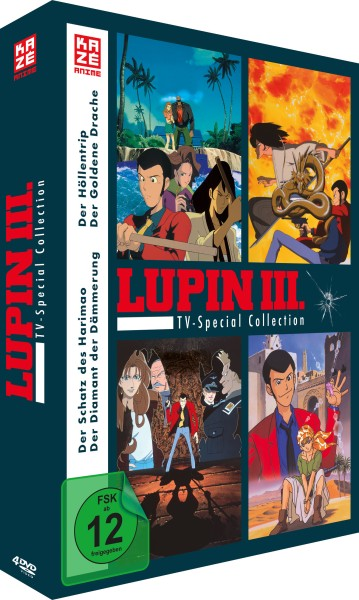 Lupin III - TV-Special Collection (4 TV-Specials) [4 DVDs]