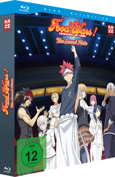 Food Wars! The Second Plate: 2. Staffel - Volume 01 & Sammelschuber (Limited Edition) [Blu-ray]